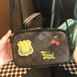 Coach mini double zip Cross body bag